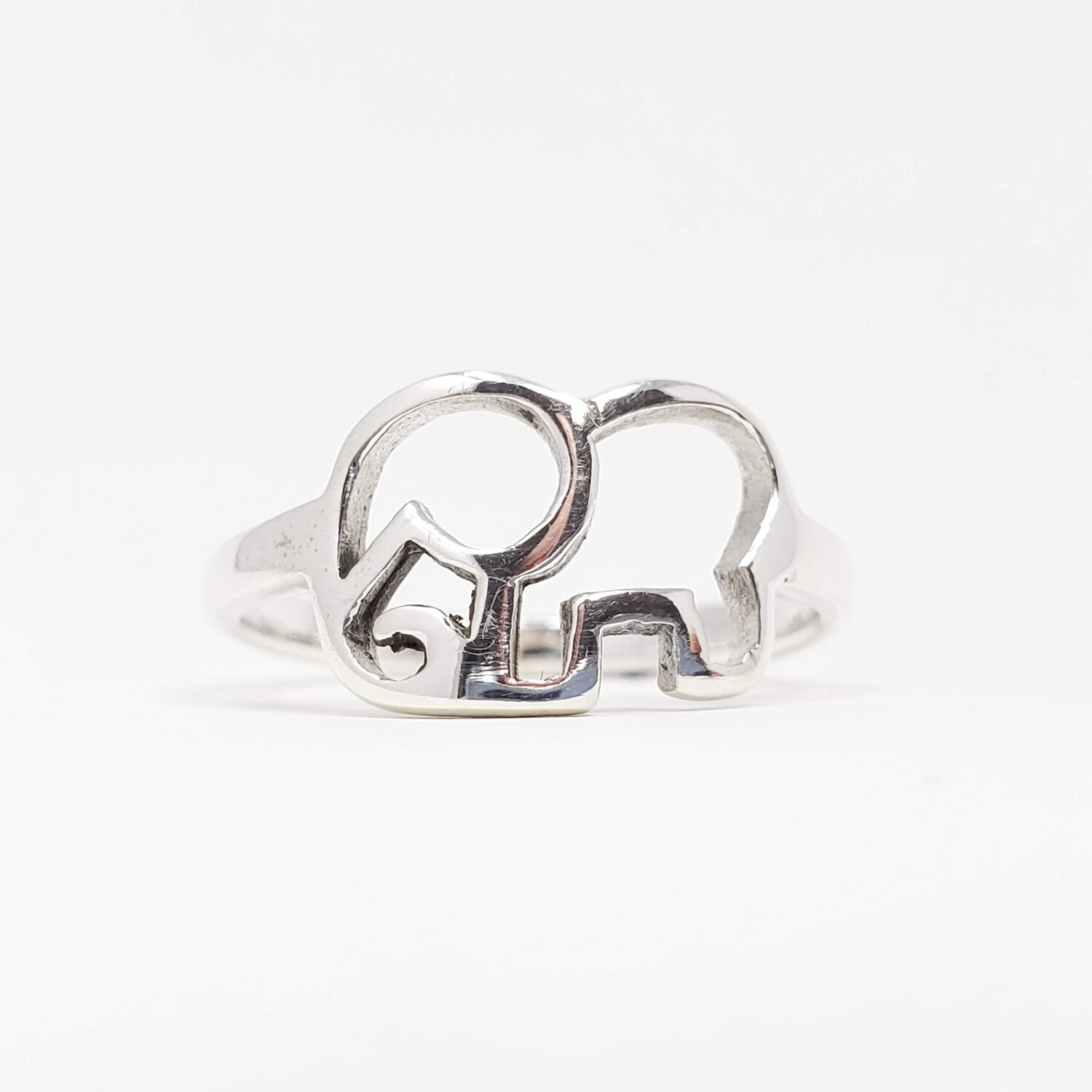 925 ELEPHANT SILHOUETTE RING