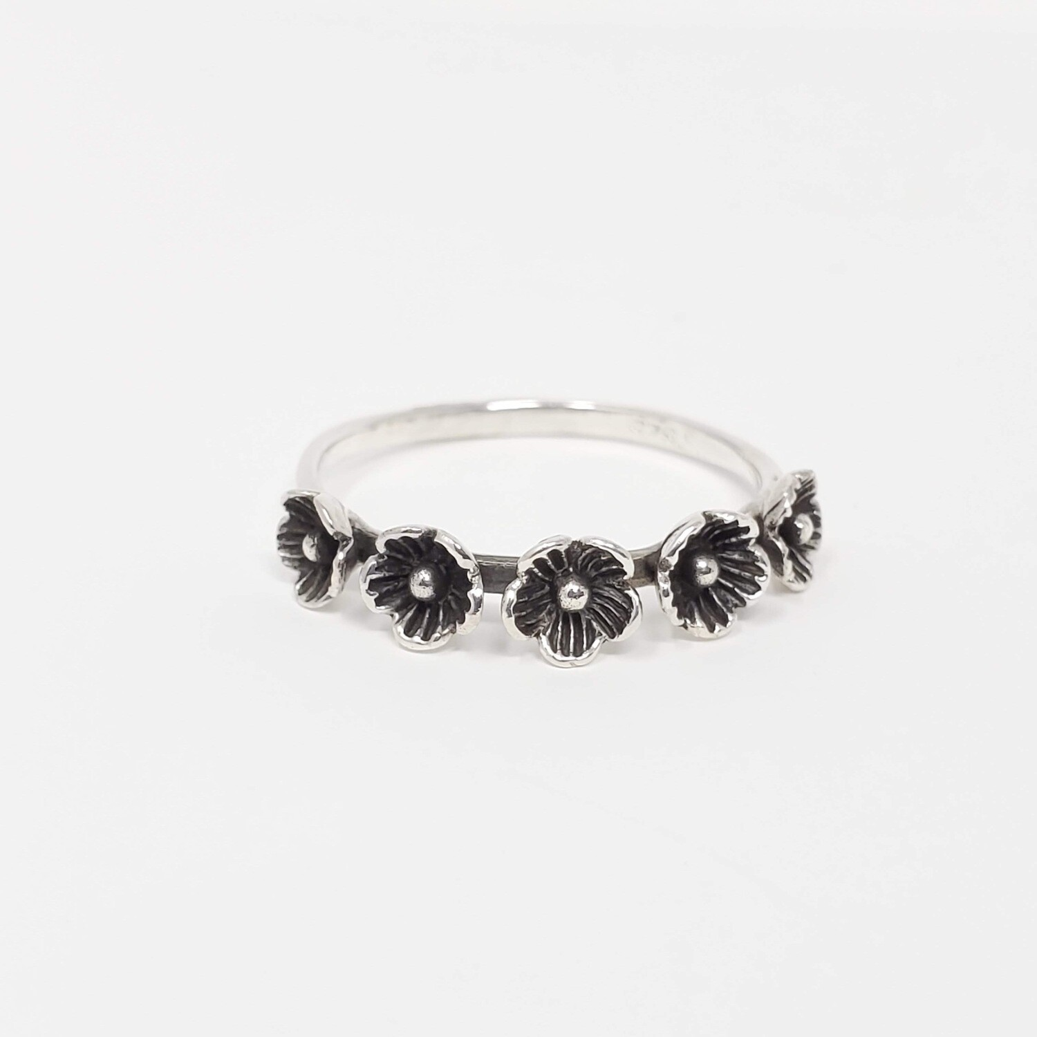 925 FIVE FLOWERS RING