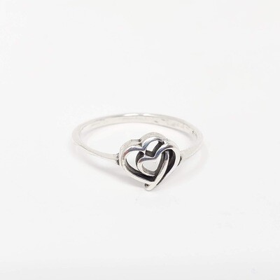 925 MOTHER/BABY HEART RING
