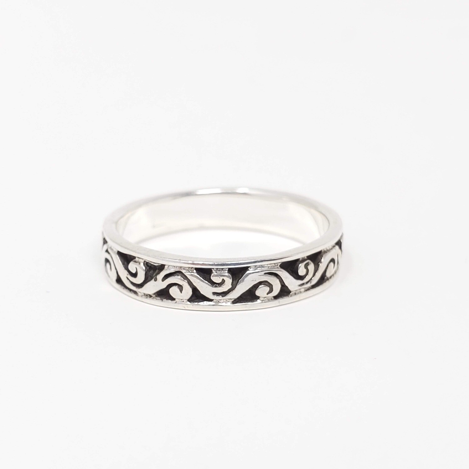 925 SWIRLY WAVES RING