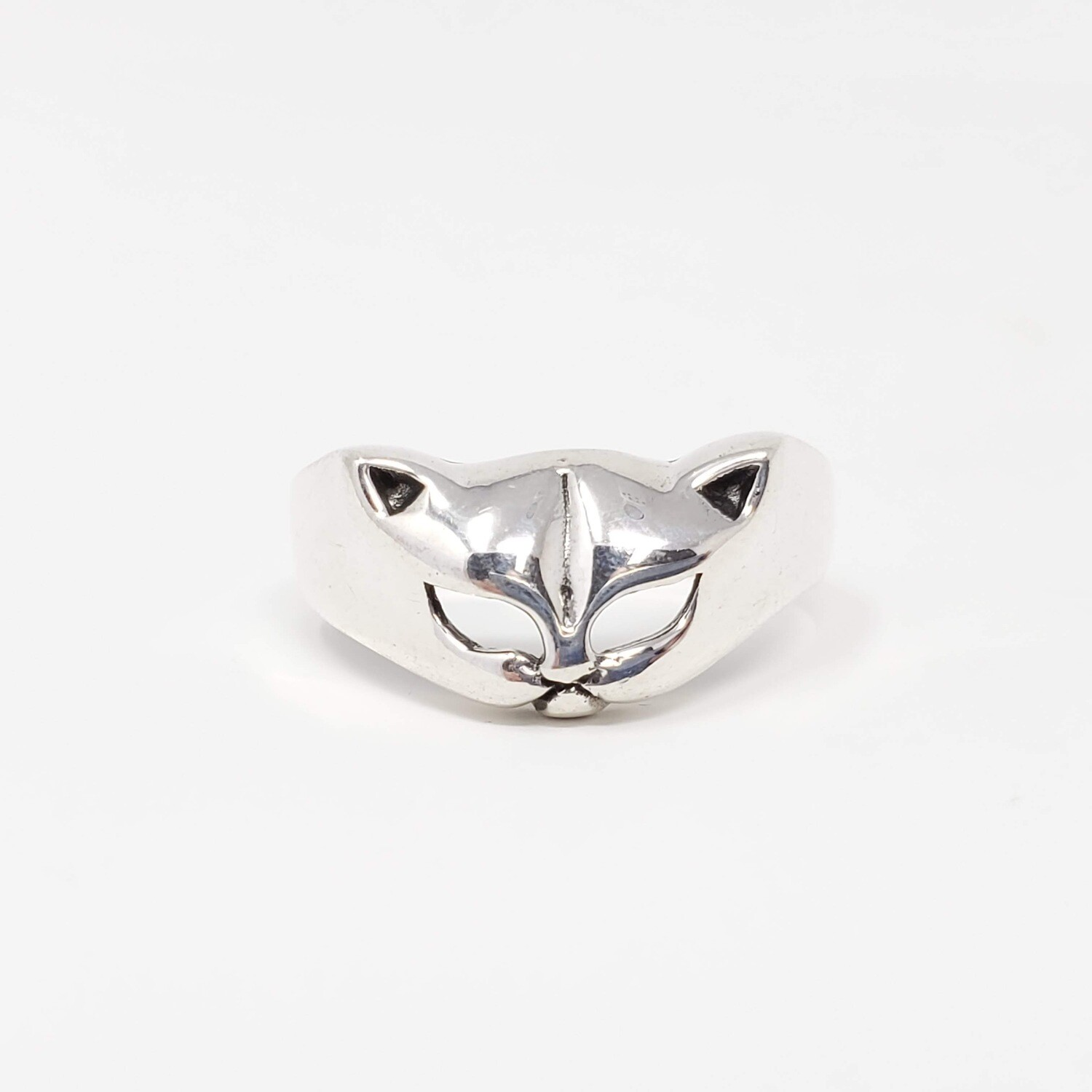 925 CAT FACE RING