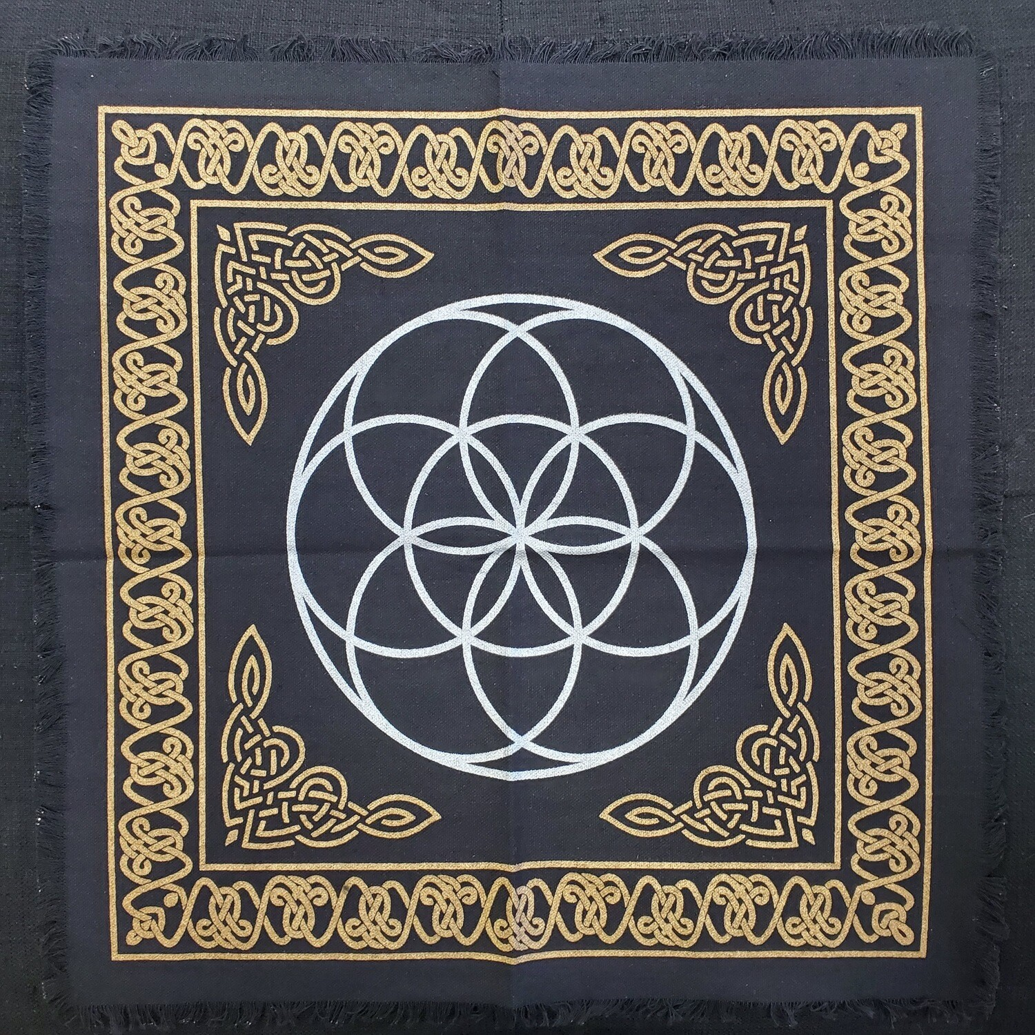 """SEED OF LIFE ALTAR CLOTH 18""""x18"""""""