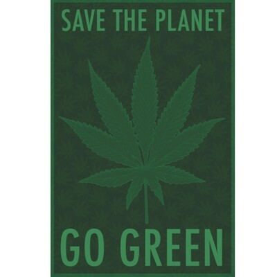 SAVE THE PLANET GO GREEN POSTER