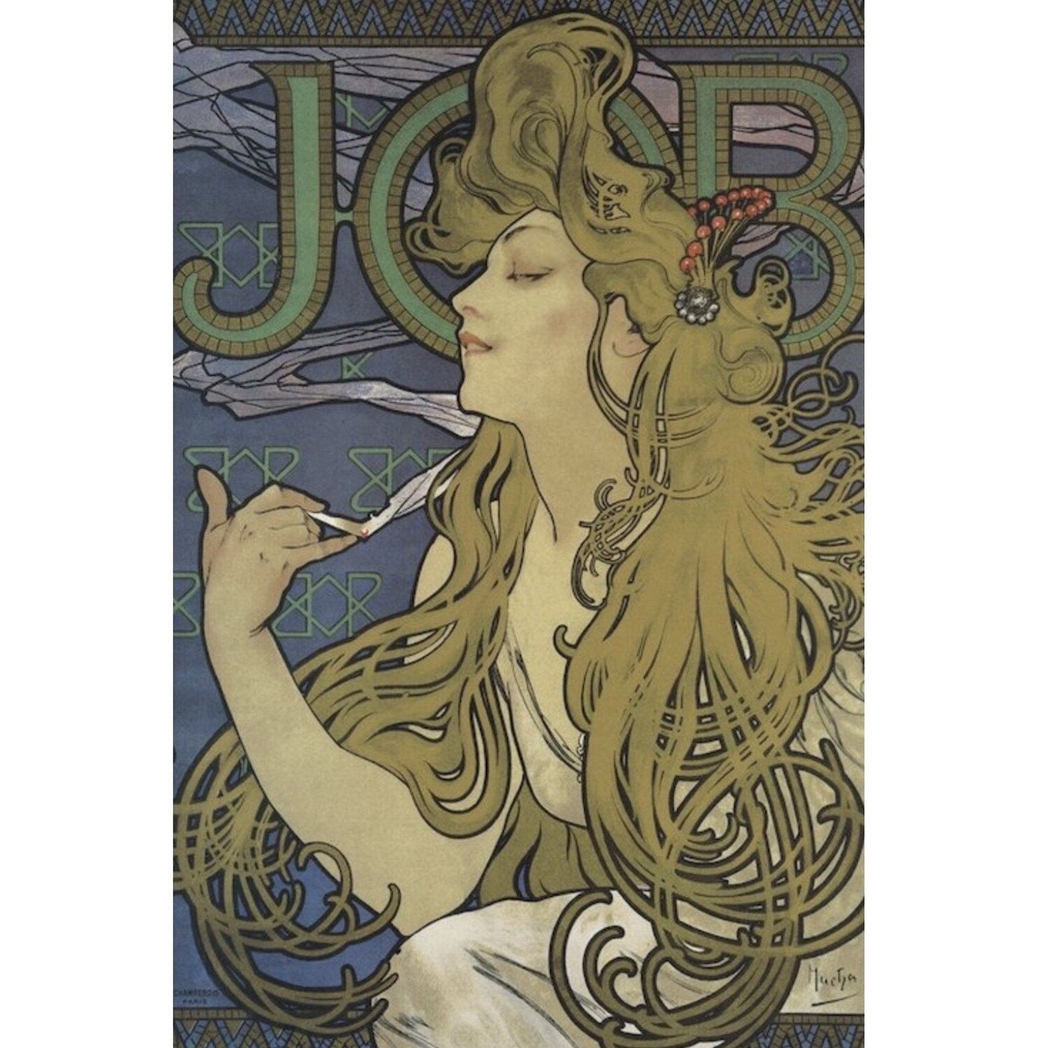 MUCHA JOB ROLLING PAPERS POSTER