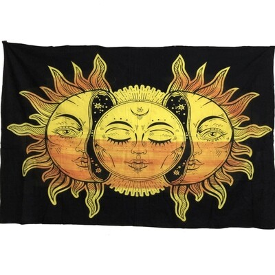 CELESTIAL FACES TAPESTRY