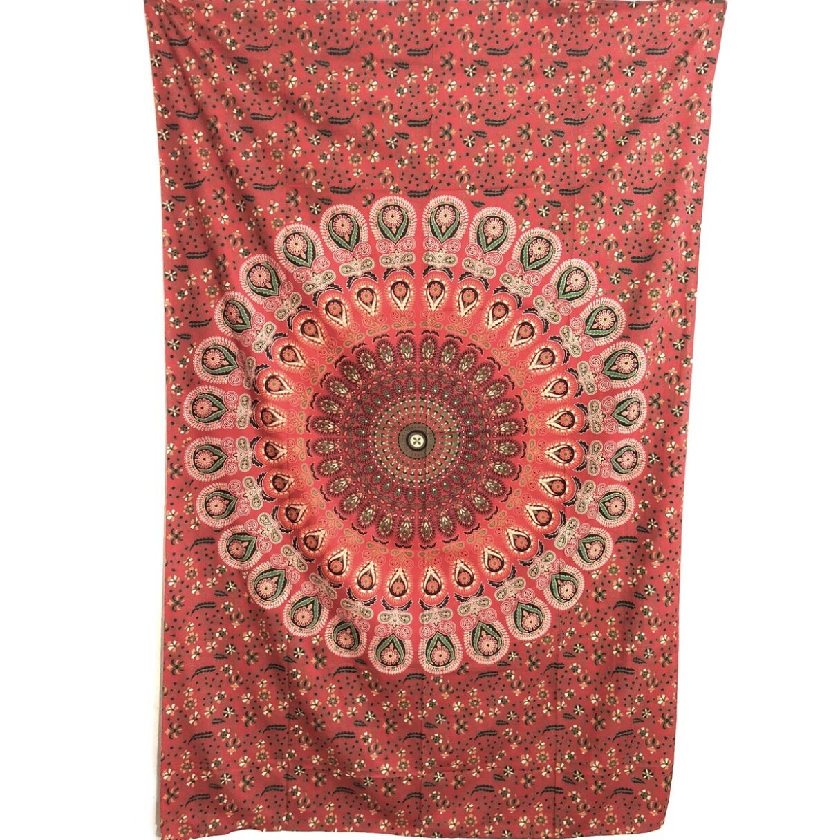 RED MANDALA HIPPIE TAPESTRY