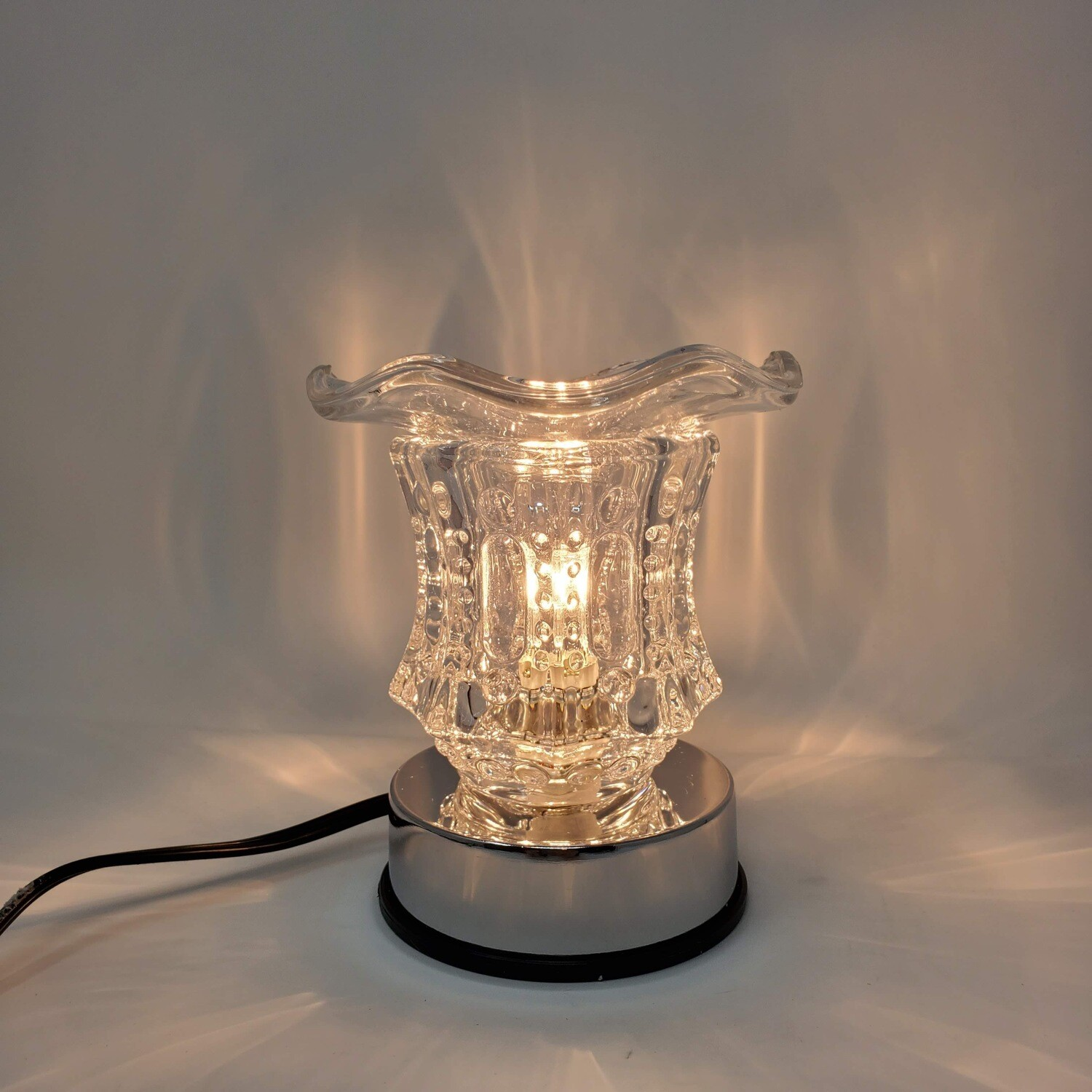 CLEAR VINTAGE SOLID TOUCH LAMP