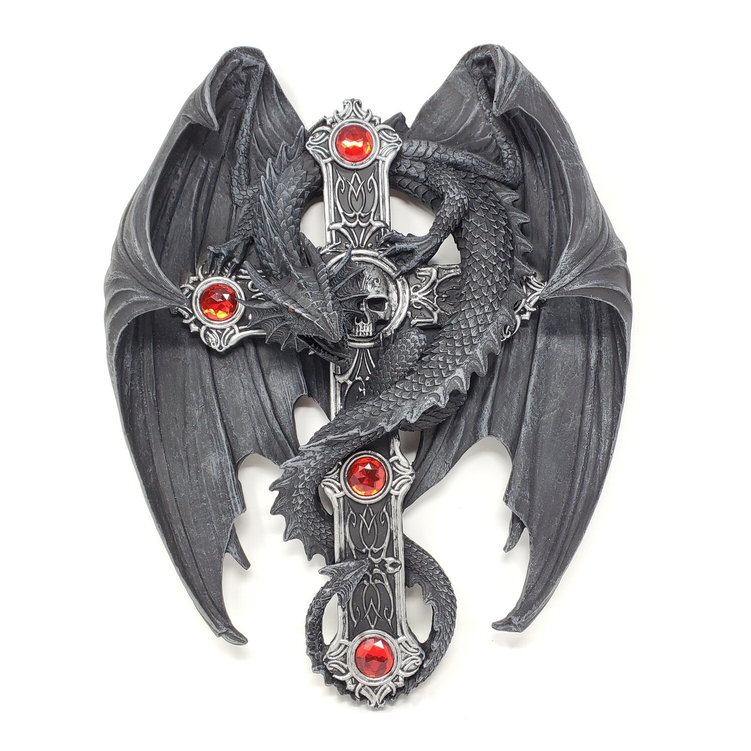 WINGED DRAGON CROSS WALL PLAQUE