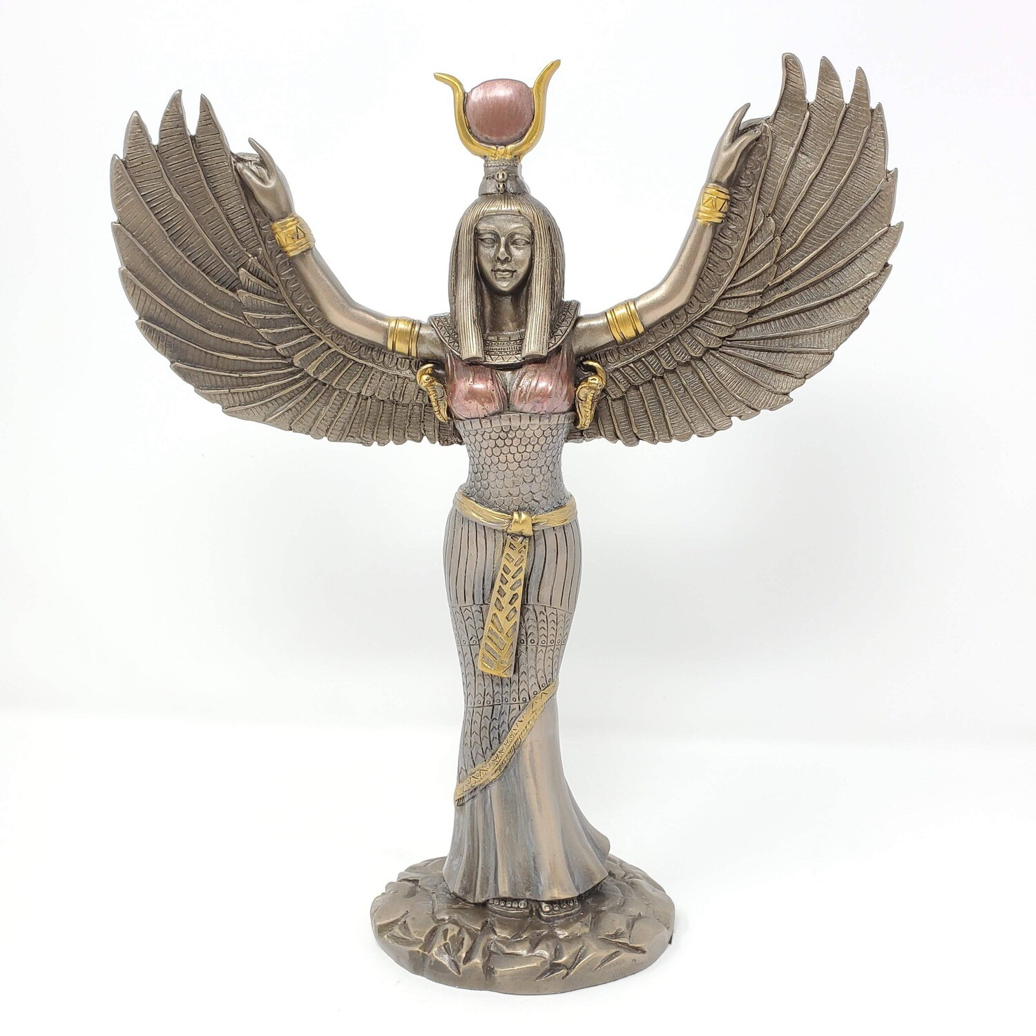 WINGED ISIS BRONZE STATUE