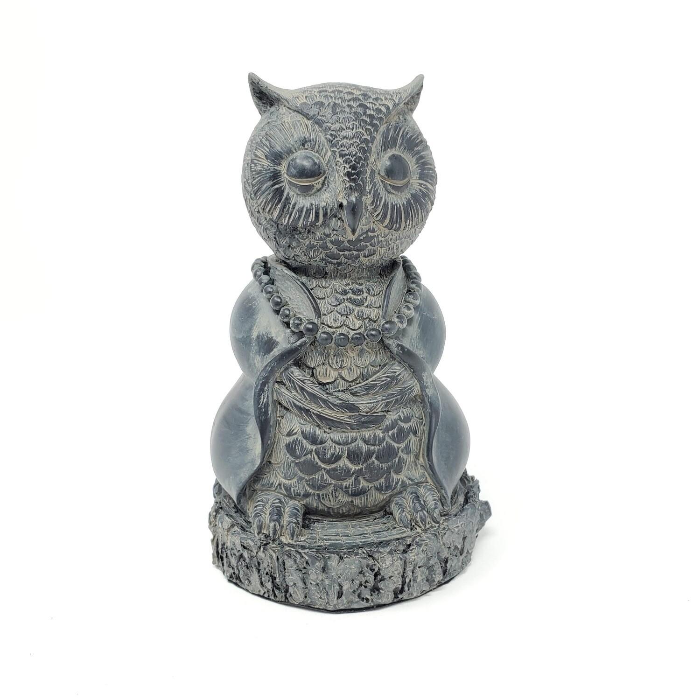 MEDITATING OWL STATUE