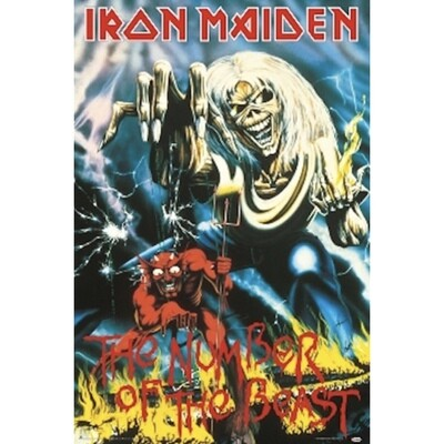 IRON MAIDEN NUMBER OF THE BEAST POSTER