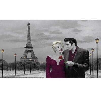ELVIS AND MARILYN PARIS POSTER