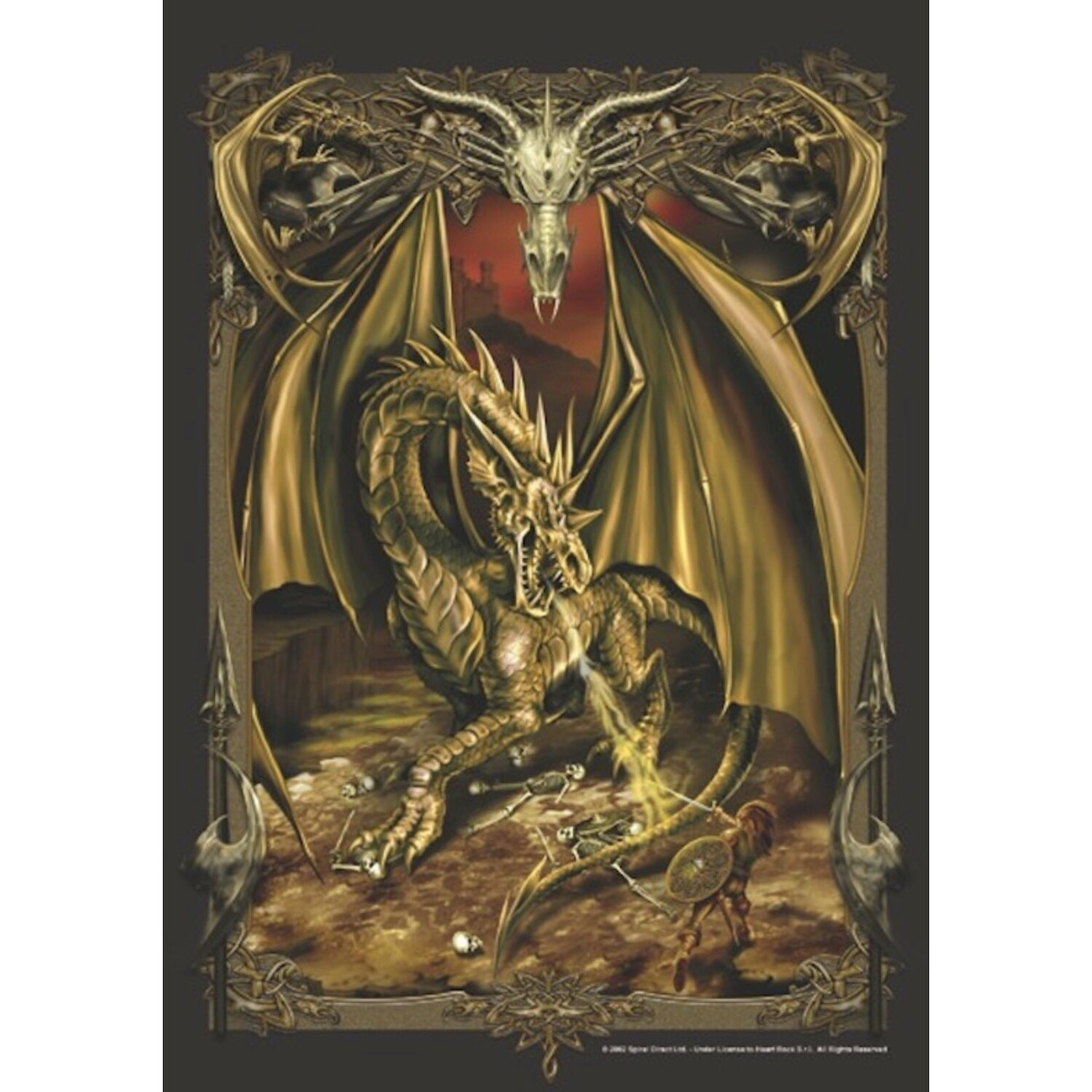 DRAGON SLAYER FABRIC POSTER