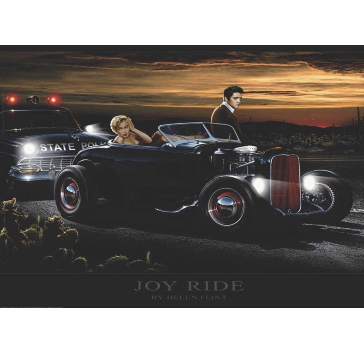 JOYRIDE ELVIS AND MARILYN POSTER