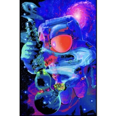 SPACED OUT BLACKLIGHT POSTER