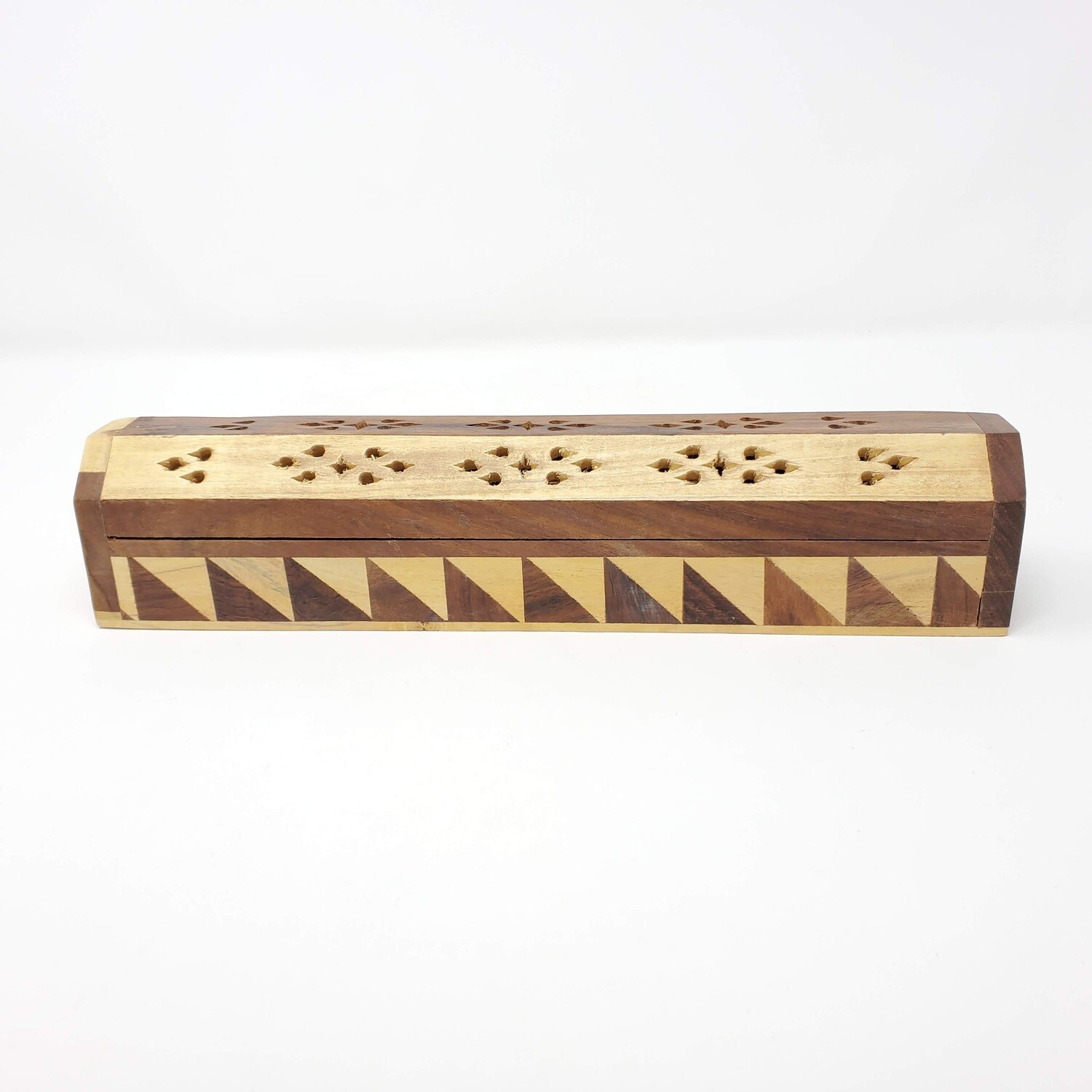 TWO TONE WOODEN COFFIN