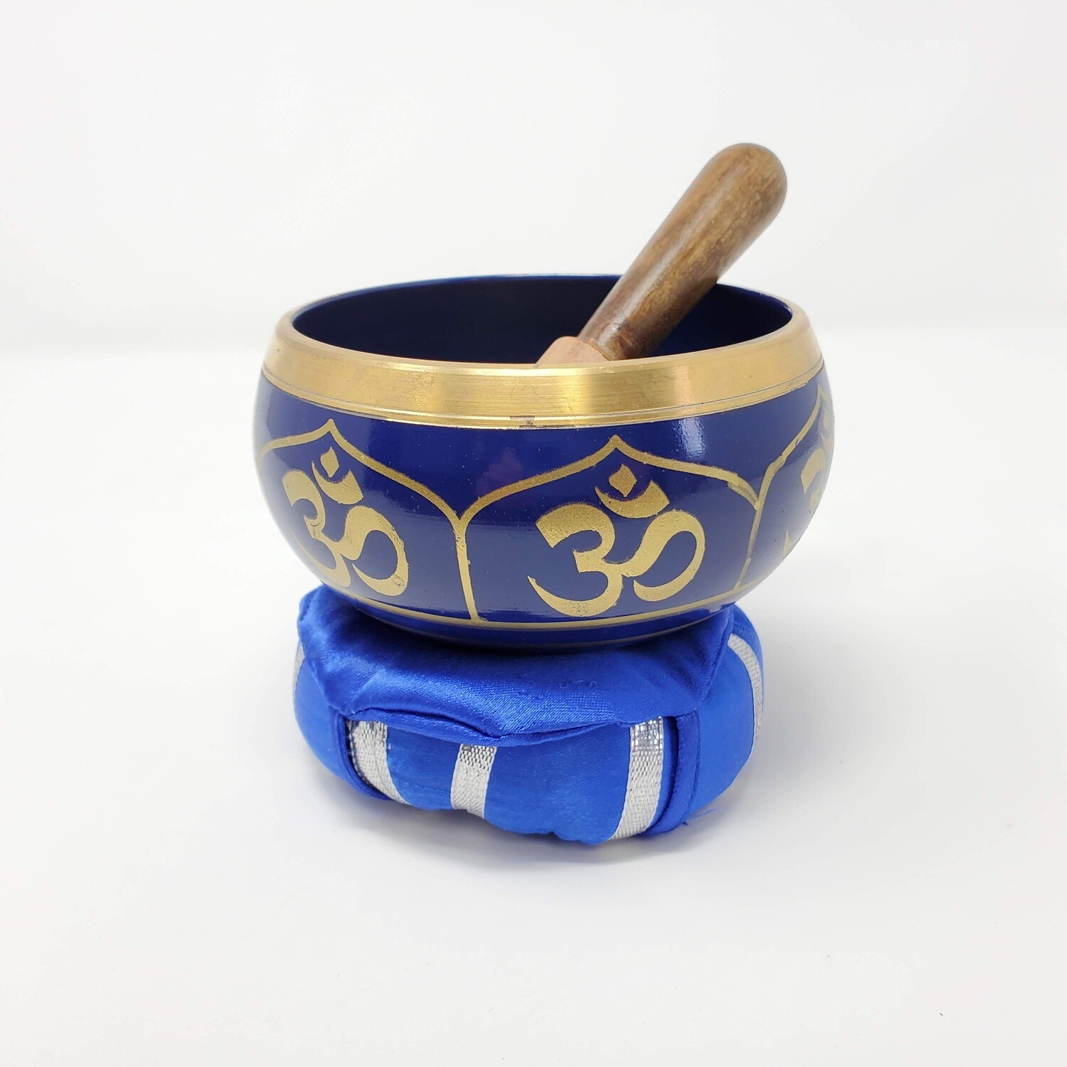 BLUE OM SINGING BOWL KIT