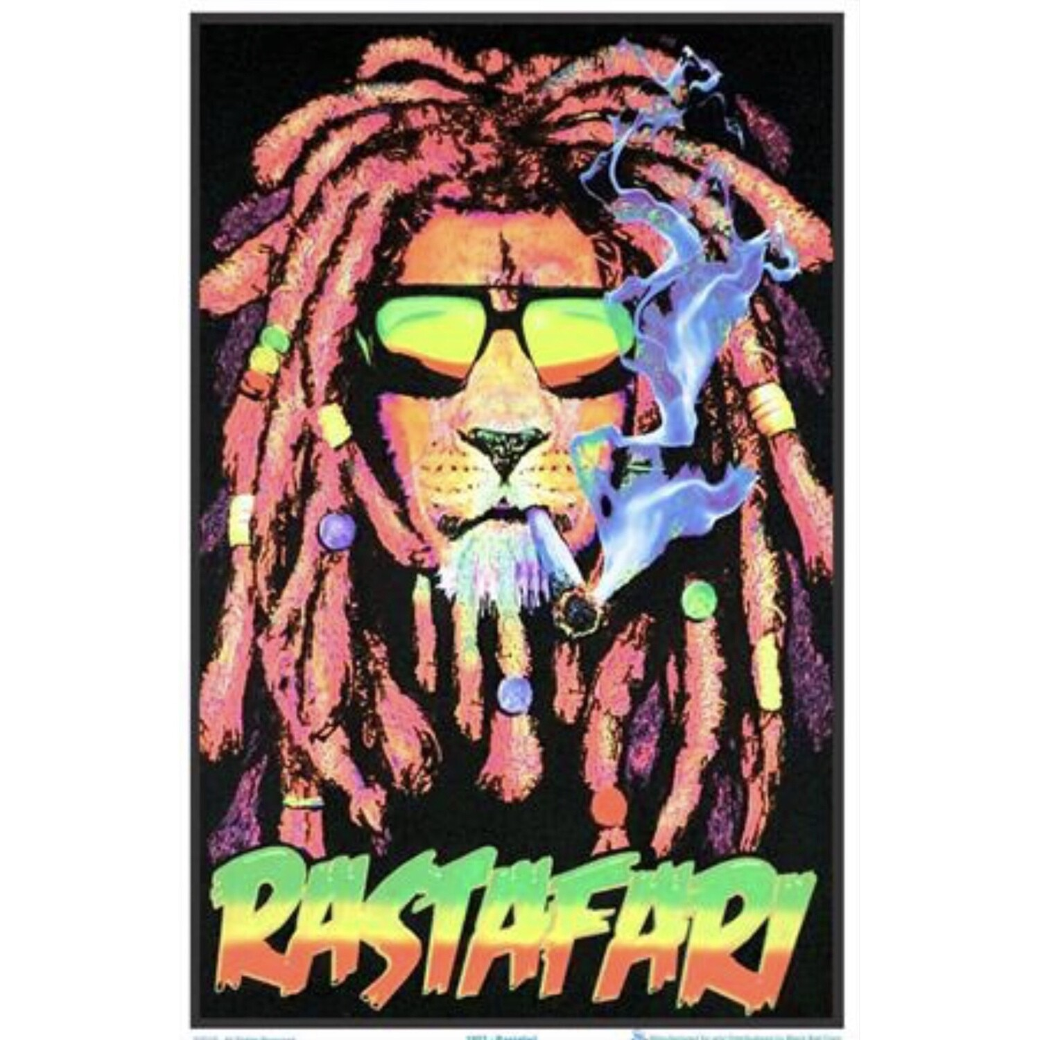 RASTAFARI BLACKLIGHT POSTER