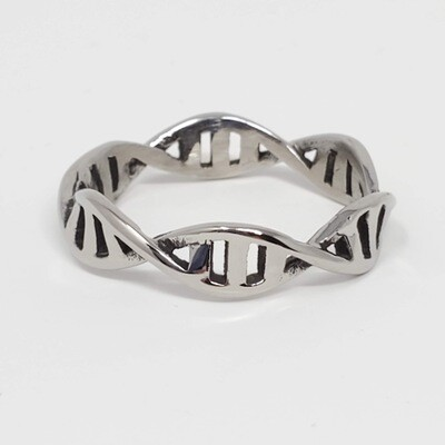 316L DNA DOUBLE HELIX RING