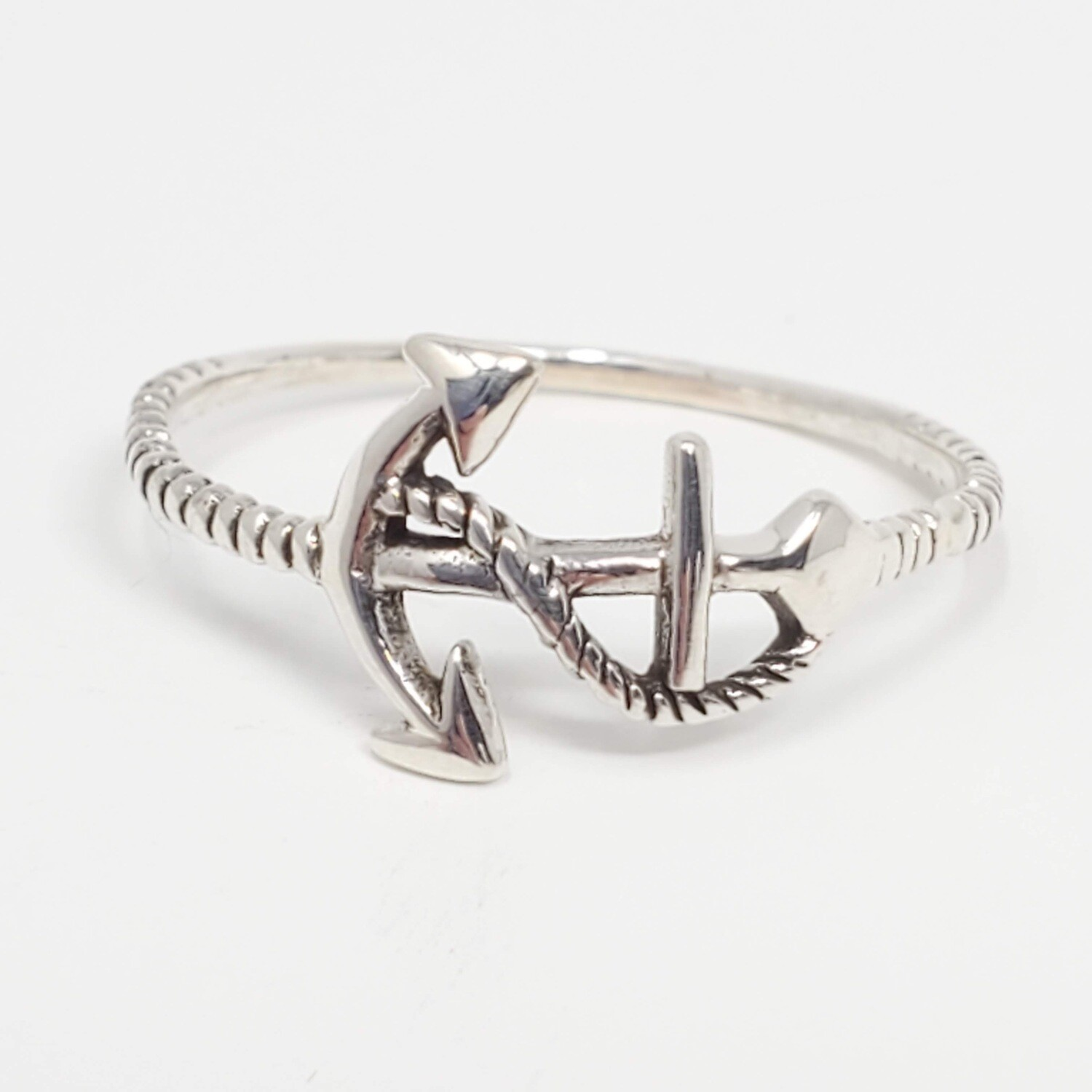925 ANCHOR ROPE RING