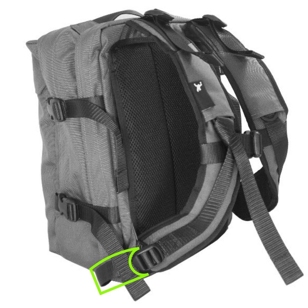 Backpack shoulder strap webbing replacement