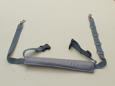 Double belly strap (hair resistant padding)