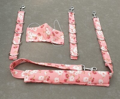 Set of 3  restraints with mask (fabric covered)