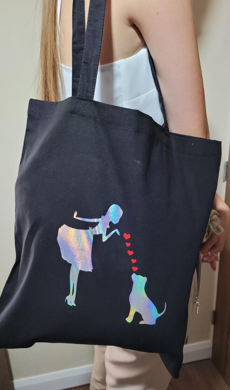 Dog breed shopper tote bag
