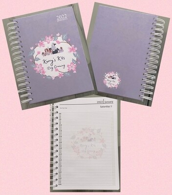 Handmade personalised A5 day a page appointment 2022 diary