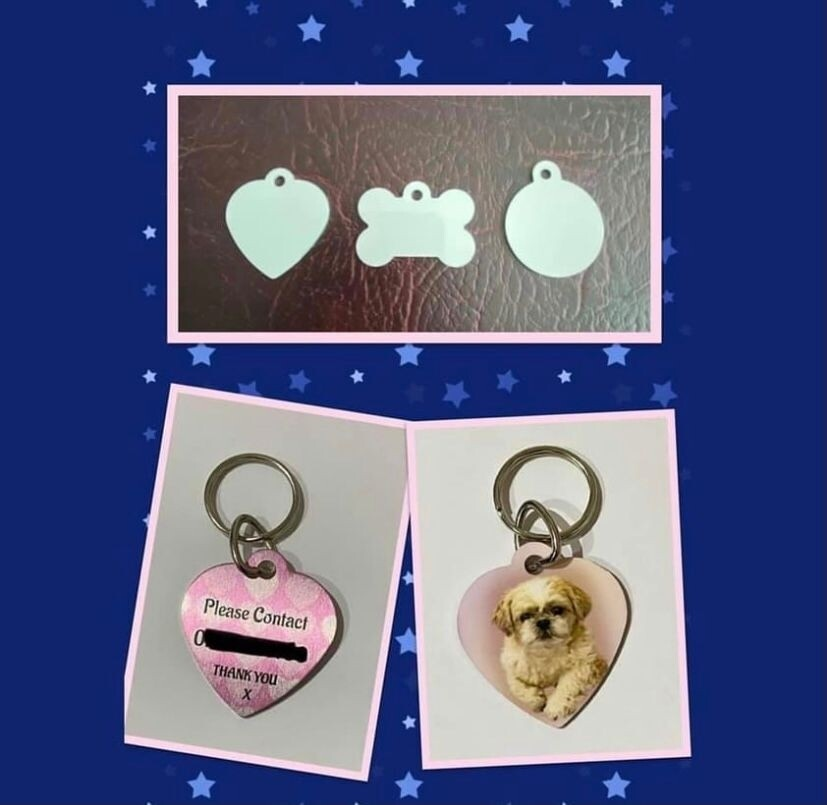 Pet ID tag with photo