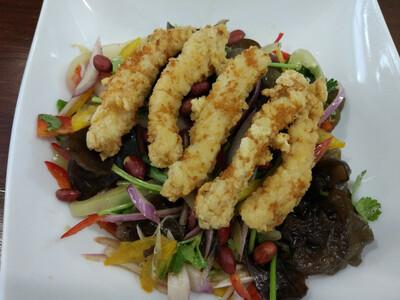 Куриный салат с грибами Муэр
