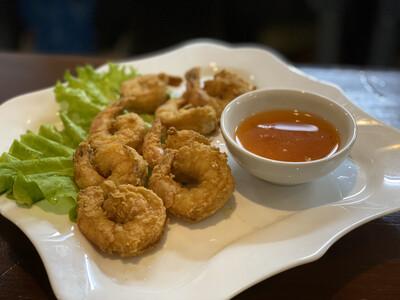 Креветки Темпура с соусом