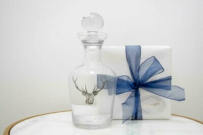 Stag Head Glass Decanter