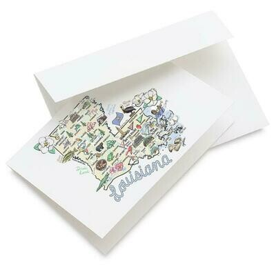 LA Map Greeting Card