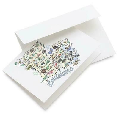 LA Map Greeting Card