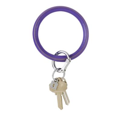 Deep Purple Vegan Big O Key Ring