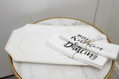 Beatriz Ball Rect.White Platter-Long