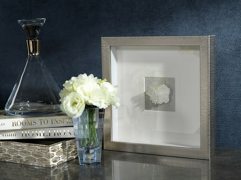Silver Framed Crystal 12 x 12