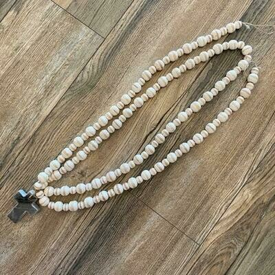 Gray Marble Cross Beads
