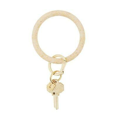 Gold Confetti Silicone Big O Key Ring