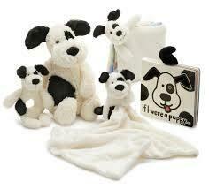 Bashful Black & Cream puppy soother