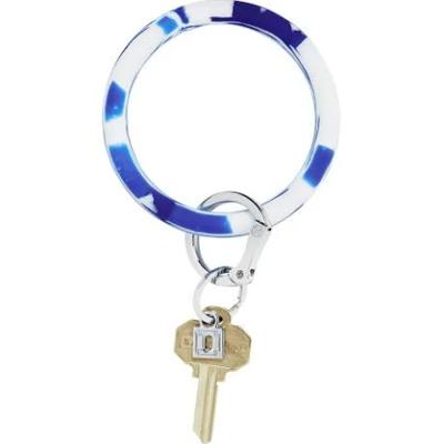 Blue Me Away Marble Silicone Big O Key Ring