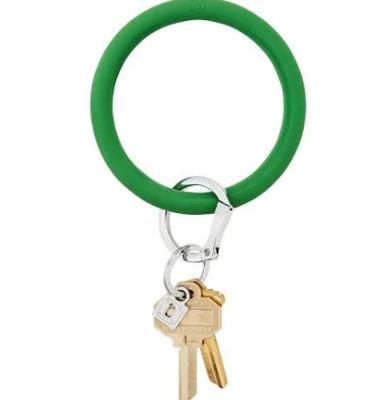 Shamrock Silicone Big O Key Ring