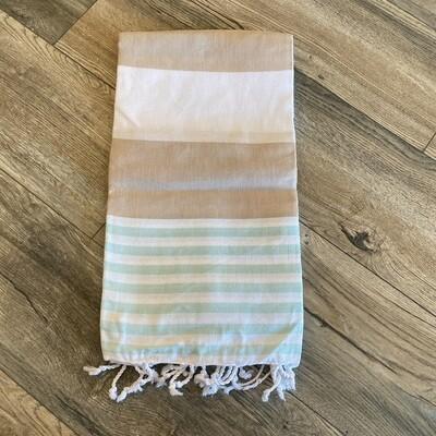 Boreas Turkish Towel Beige/Mint