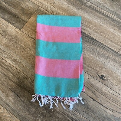 Clotho Turkish Towel Pink/Green