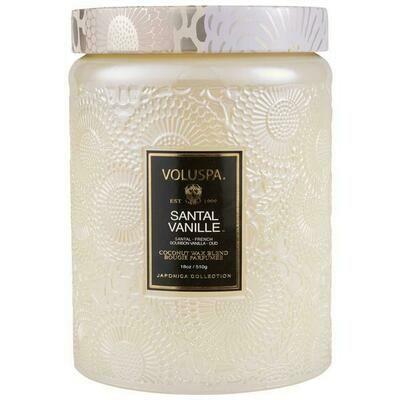 Santal Vanille Large Glass Jar