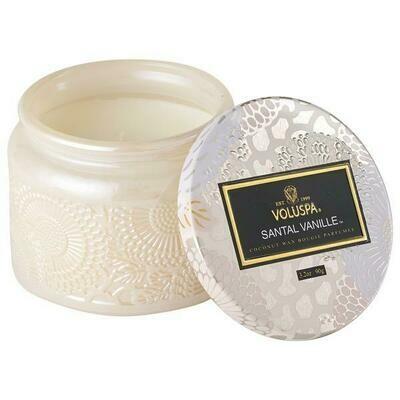Santal Vanille Small Glass Jar 3.2 oz