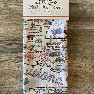 LA Map Tea Towel