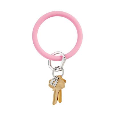 Cotton Candy Silicone Big O Key Ring