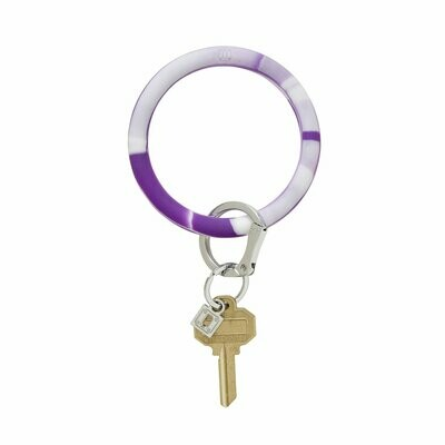 Deep Purple Marble Big O Key Ring